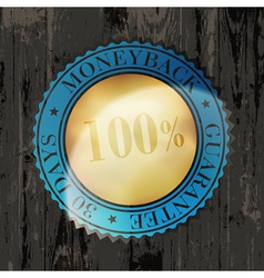 moneyback sign vintage vector image