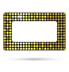 Golden framework or belt buckle isolated on white vector