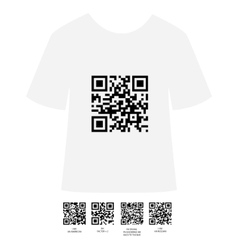 Qr shirt design vector
