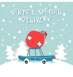 Santas Special Delivery vector image