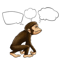 An ape thinking vector image vector image