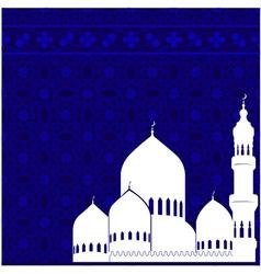 Arabic postcard for Ramadan Kareem vector image vector image