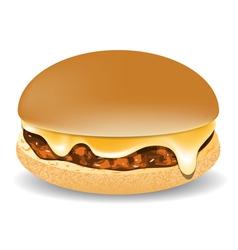 Cheddar burger vector