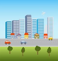 Cityscape skyline vector image vector image