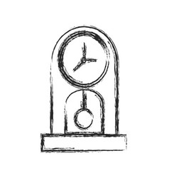clock time watch pendulum sketch vector image