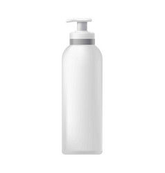 Cosmetic bottle with dispenser vector