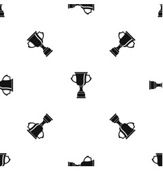 cup for win pattern seamless black vector image vector image