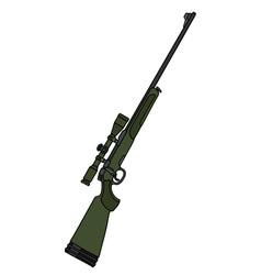 Dark green rifle with a telescope vector