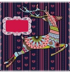 Deer christmas background vector image