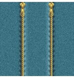 Denim background with zipper vector image