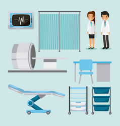 Doctor medical people health care equipment vector