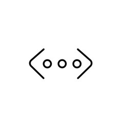 ethernet icon vector image