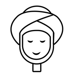 facial spa treatment icon outline style vector image vector image