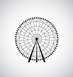 Ferris wheel from amusement park silhouette vector