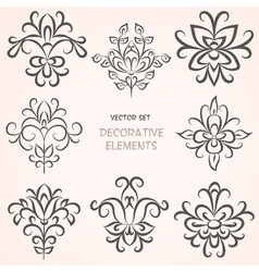 Floral decorative ethnic elements vector image