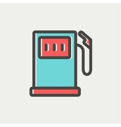 Gas pump thin line icon vector