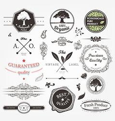 Hipster Label Set vector image vector image