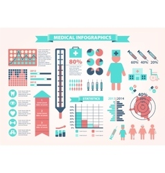 Medical health icons and data elements vector image