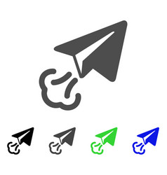 Paper plane start flat icon vector