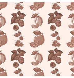 pattern of lemon raspberry cherry plum vector image vector image