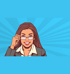portrait of attractive business woman holding vector image