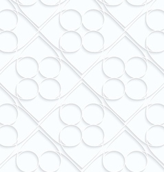 Quilling white paper circles inside squares vector