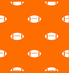 Rugby ball pattern seamless vector