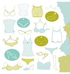 Set of clothes woman vector