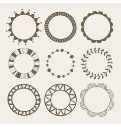 Set of nine different frames vector