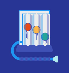 Spirometer medical equipment vector