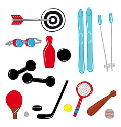 Sport Equipment vector image vector image