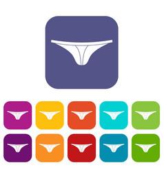Thongs icons set flat vector