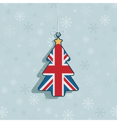 uk christmas decoration vector image