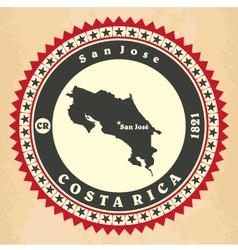 Vintage label-sticker cards of costa rica vector