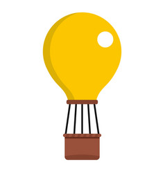 yellow air balloon icon isolated vector image