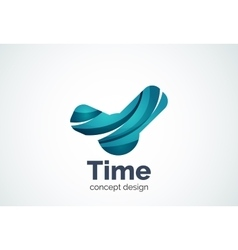 Clock logo template time management business vector