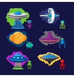 Aliens characters set vector image