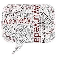 Ayurveda as alternative anxiety treatment text vector