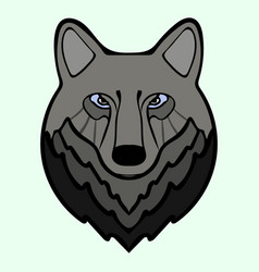 Wolf head black predator symbol freedom vector