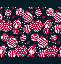 Circle red beads on black background creative vector