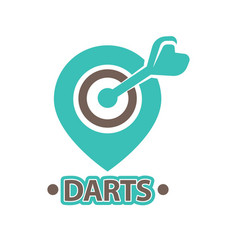 darts club isolated icon of arrow in vector image