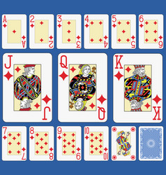 Blackjack diamonds suite french stylexa vector