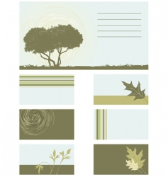 business card collection vector image