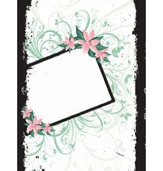 Floral grunge border vector