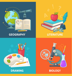 Colorful school square concept vector