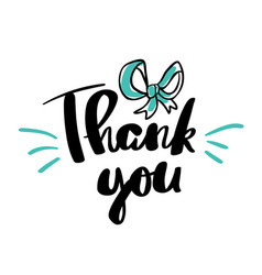 Thank you lettering for posters vector