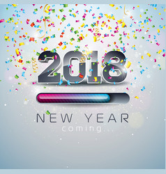 2018 new year coming with 3d number vector image