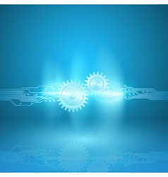 Abstract blue background with a circuit board vector