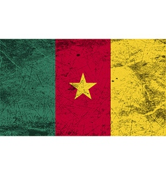 Flag of cameroon with old texture vector