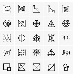 Math icons vector